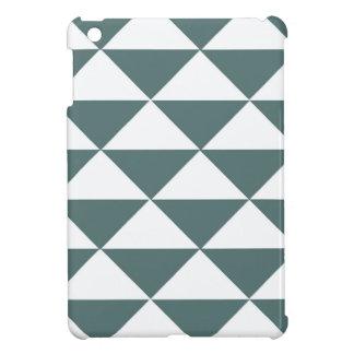 Smokey Green and White Triangles iPad Mini Cases
