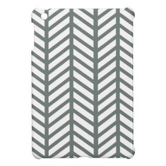 Smokey Green Chevron Folders iPad Mini Cover