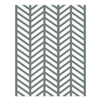 Smokey Green Chevron Folders Letterhead Design