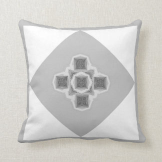 Smokey Grey Kaleidoscope Pillow