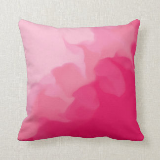 Smokey Light and Dark Pink Throw Pillow
