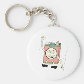 """Smokey McSmokerson"" Basic Round Button Keychain"