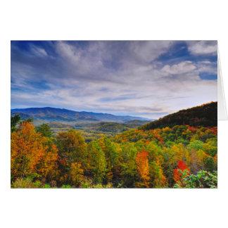 Smokey Mountain Autumn Card