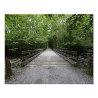 Smokey Mountain Bridge Poster