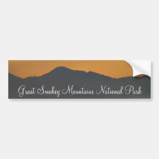 Smokey Mountain Sunrise Car Bumper Sticker