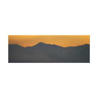 Smokey Mountain Sunrise Canvas Print