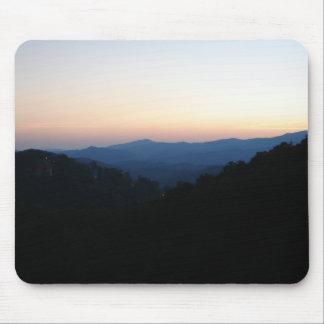 Smokey mountain sunset mouse pad