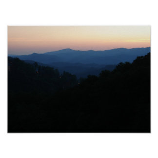 Smokey Mountains at Sunset Print