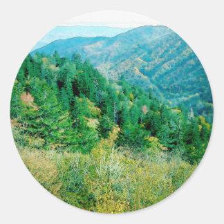 Smokey Mountains Classic Round Sticker