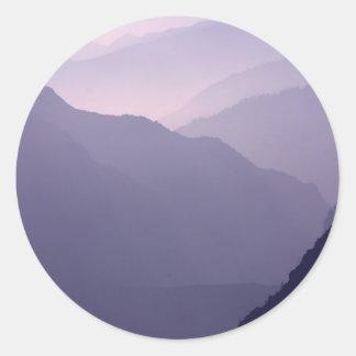 Smokey Mountains Haze Classic Round Sticker