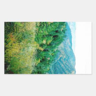 Smokey Mountains Rectangular Sticker