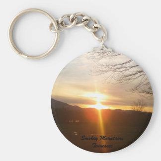 Smokey Mountains Sunset Key Chain