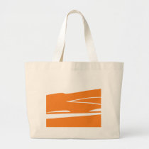 Smokey Orangesicle Large Tote Bag
