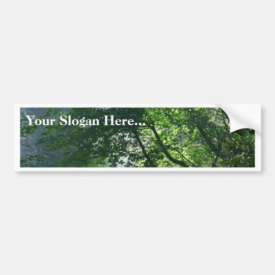 Smokey Paths Trails Forests Woods Bumper Sticker