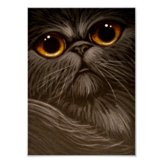 SMOKEY PERSIAN CAT PAINTING 1 Poster