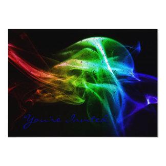 Smokey Rainbow Invitation