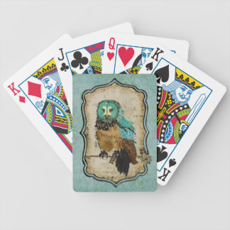 Smokey Rose Owl Card Deck