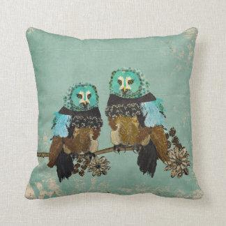 Smokey Rose Owls  MoJo Pillow