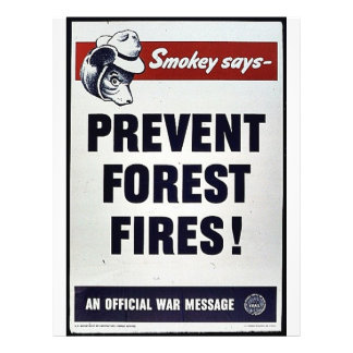 Smokey Says -Prevent Forest Fires! Personalized Flyer