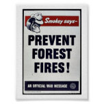 Smokey Says -Prevent Forest Fires! Poster