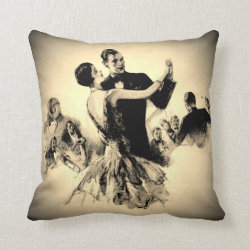 Smokey Swing Time Throw Pillow