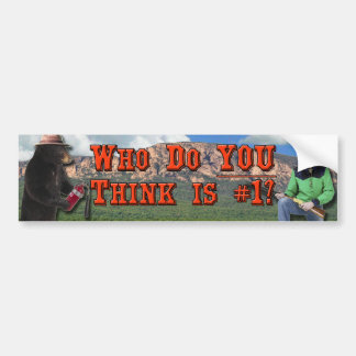 Smokey the Bear vs Billy the Kid: Who do YOU love? Bumper Sticker