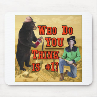 Smokey the Bear vs Billy the Kid: Who do YOU love? Mouse Pad