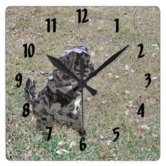 Smokey Watches and Waits Square Wall Clock