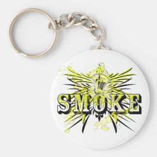 SmokeYellow (llavero) Llavero Redondo Tipo Pin