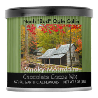 "Smokies - Noah ""Bud"" Ogle Cabin Autumn Picture Hot Chocolate Drink Mix"