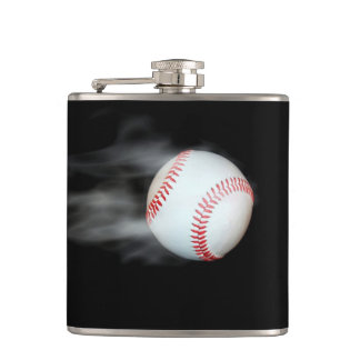 Smokin Baseball Flask