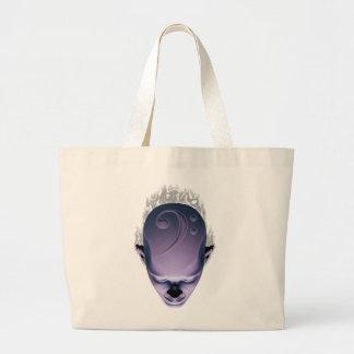 Smokin' Bass Head Large Tote Bag