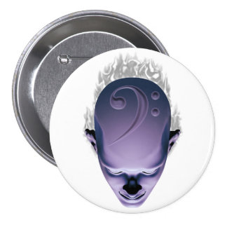 Smokin' Bass Head Pinback Button