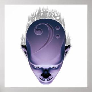 Smokin' Bass Head Poster