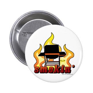 Smokin BBQ lover Pinback Button