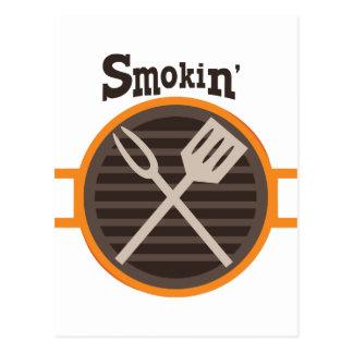 Smokin BBQ Postcard