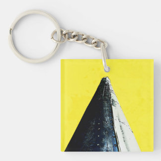 Smokin' Cone on Yellow Keychain