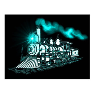 Smokin Green Train Postcard