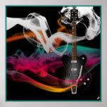 Smokin' Guitar Poster