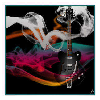 Smokin' Guitar Poster