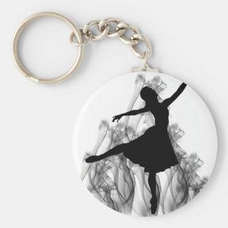 Smokin' Hot Ballerina Dancer Basic Round Button Keychain