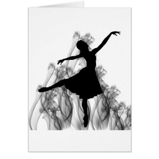 Smokin' Hot Ballerina Dancer Card