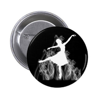 Smokin' Hot Ballerina Dancer Pinback Button