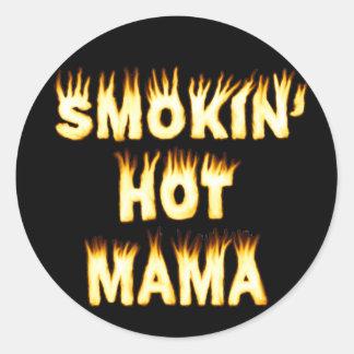 Smokin' Hot Mama Classic Round Sticker