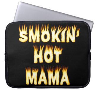 Smokin' Hot Mama Funny Mother Flames Computer Sleeve