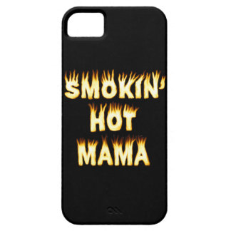 Smokin' Hot Mama Funny Mother Flames iPhone SE/5/5s Case