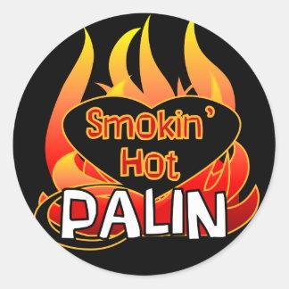 Smokin' Hot Palin Stickers