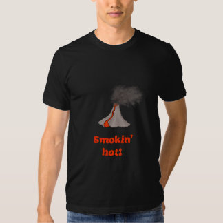 Smokin' Hot Volcano Design -- Dark T Shirt
