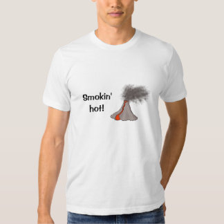Smokin' Hot Volcano Design T-shirt