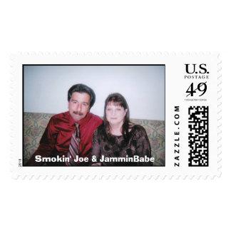 Smokin Joe y JamminBabe Sello Postal